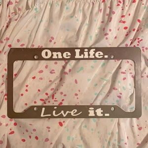License plate tag!